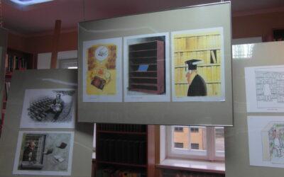 """""""Biblioteka"""" – rysunki satyryczne z XIII Międzynarodowego  Otwartego Konkursu na Rysunek Satyryczny"""