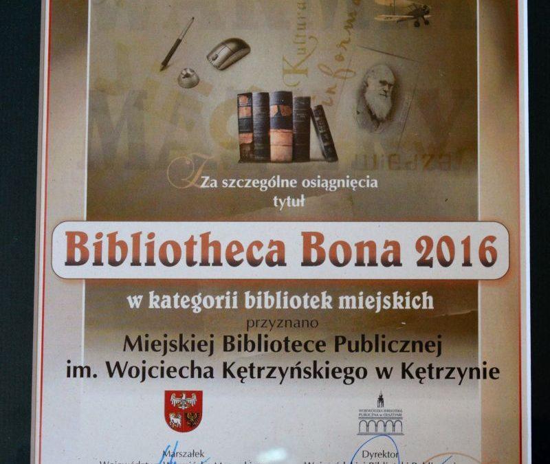 TYTUŁ BIBLIOTHECA BONA DLA MBP W KĘTRZYNIE