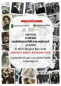 Wykład w 100 lecie uzyskania przez Polki Praw wyborczych
