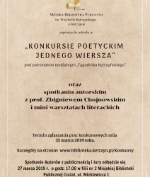 """""""Konkurs Poetycki Jednego Wiersza"""""""