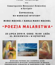 """Zaproszenie na wernisaż wystawy """"Poezja malarstwa"""""""