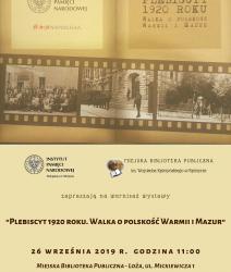 Plebiscyt 1920 r. Walka o polskość Warmii i Mazur