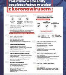 Podstawowe zasady bezpieczeństwa w walce z koronowirusem